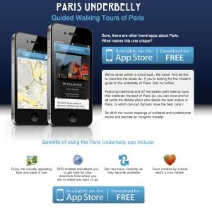Paris Underbelly App Landing Page image